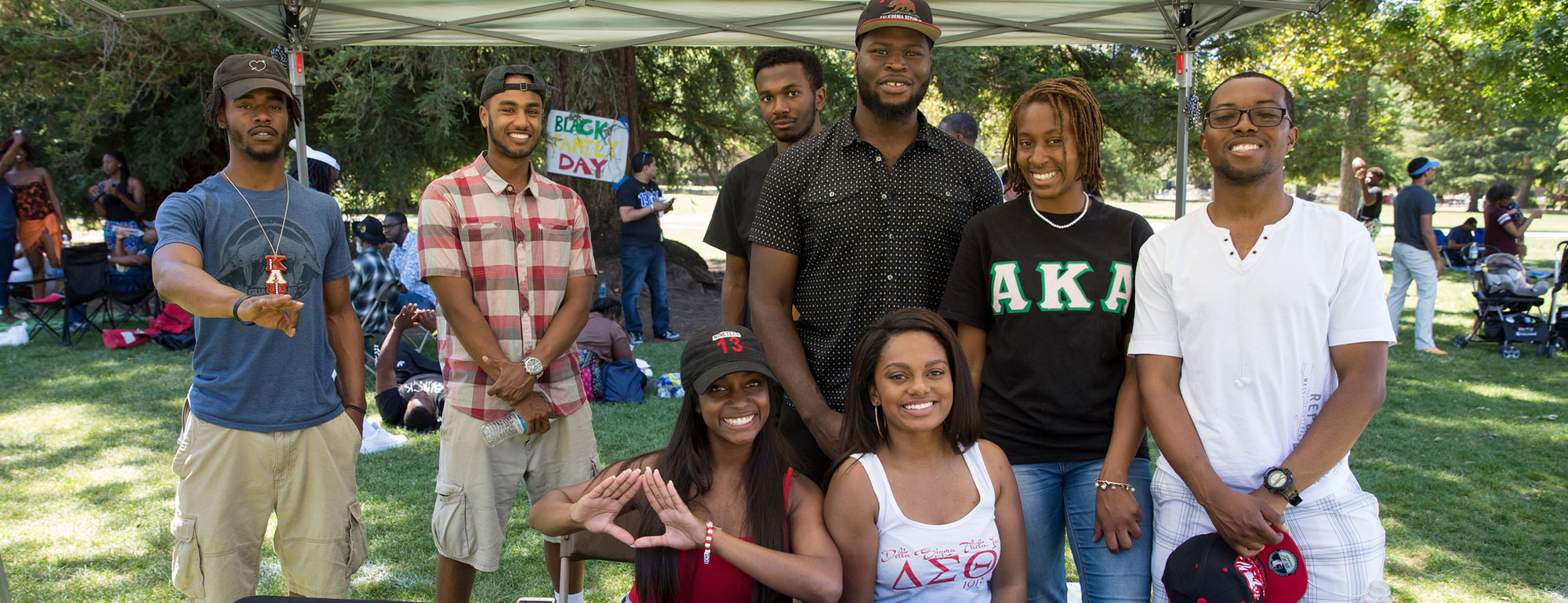 Student organizations at Black Family Day